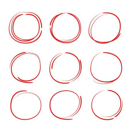 felt-tip pen circles Ilustrace