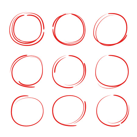 felt-tip pen circles Illustration