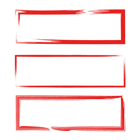 Red grunge rectangle frames vector illustration. Stock fotó - 83725657
