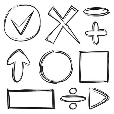 multiply: Black hand drawn math signs