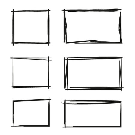 hand drawn rectangle, text box and frames Stock fotó - 82060404