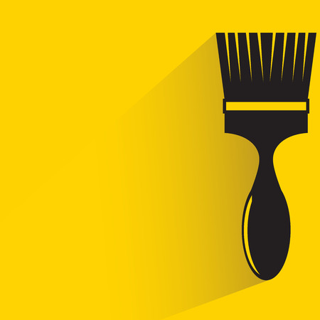 painting brush icon on yellow background Illustration