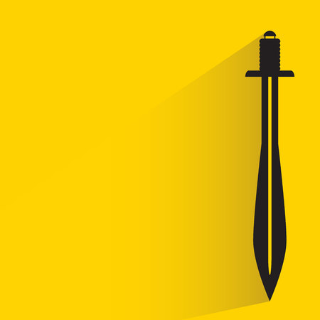 Sword on yellow background