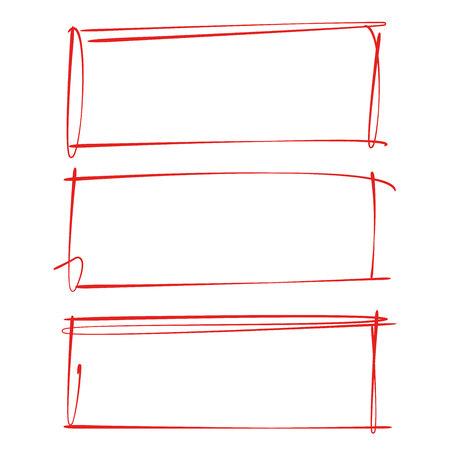 red grunge frame Illusztráció