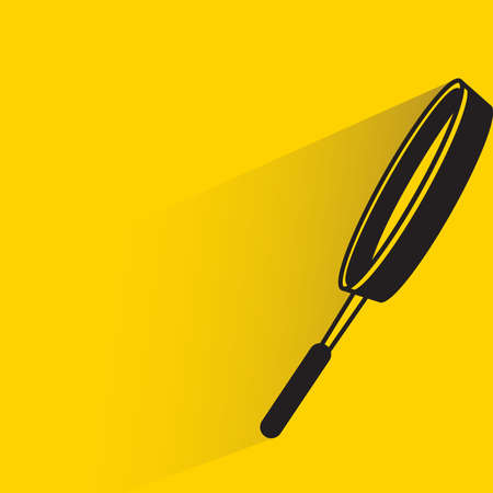 frying pan on yellow background
