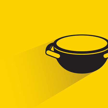 Bowl on yellow background