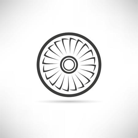 Jet engine turbine vector illustration.