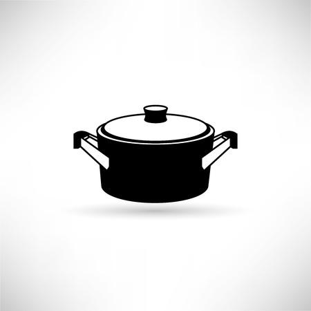 Pot icon vector illustration on white background.