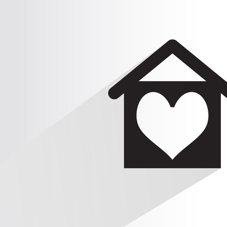 Heart in home. Иллюстрация