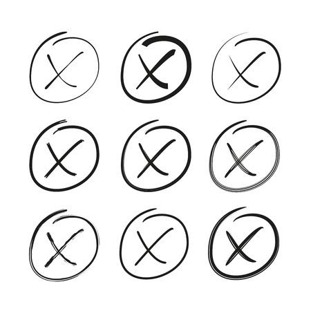 no symbol, cross or wrong symbols