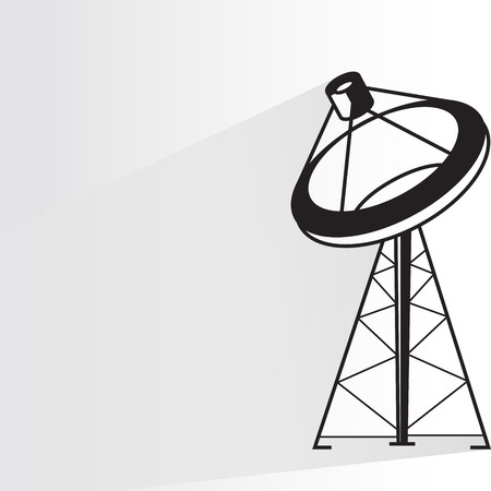 communication antenna tower Vector illustration.