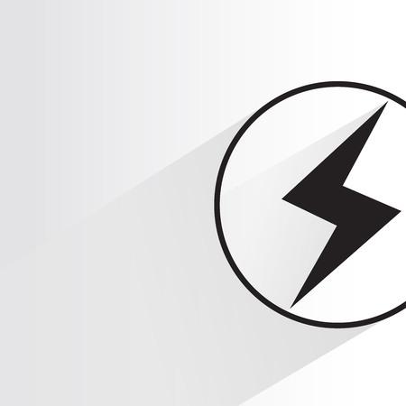 サンダー ボルトの記号。電気ベクトル。