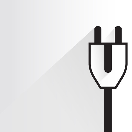unplug: electric plug on white background