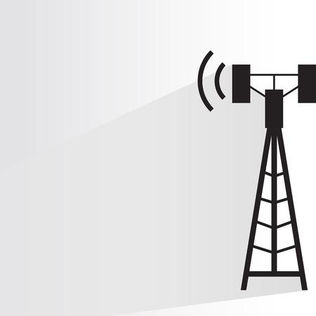 communication tower Ilustração