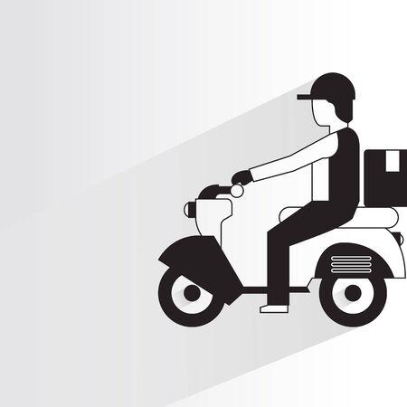 Levering man rijden scooter Stockfoto - 88906118