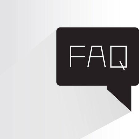 FAQ icon vector illustration