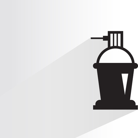 Spray bottle icon design.