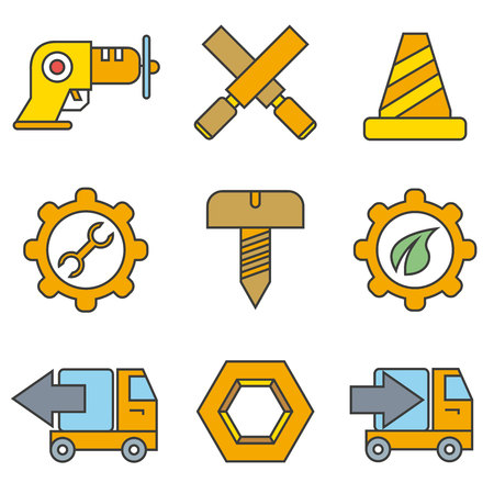 construction tool and equipment icons