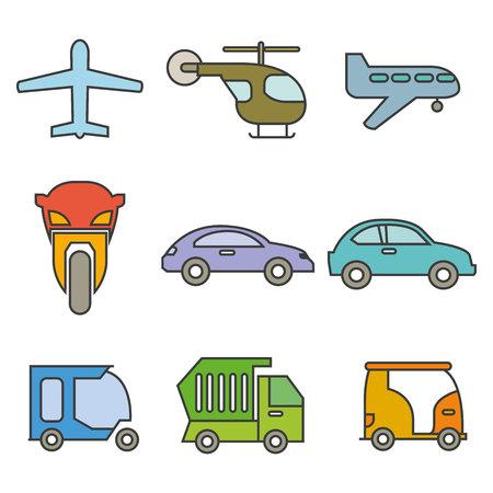 transportation icons Illustration