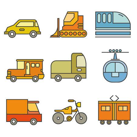 transportation, vehicle icons