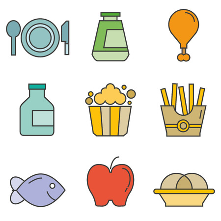 food icons Vector illustration.