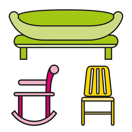 Sofa and chair icons