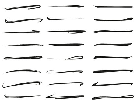 collection of hand drawn lines, brush lines