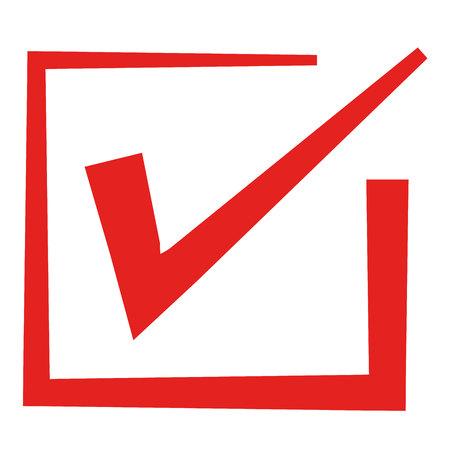Red check mark Illustration