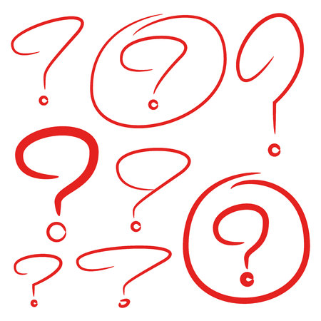 question marks Illustration