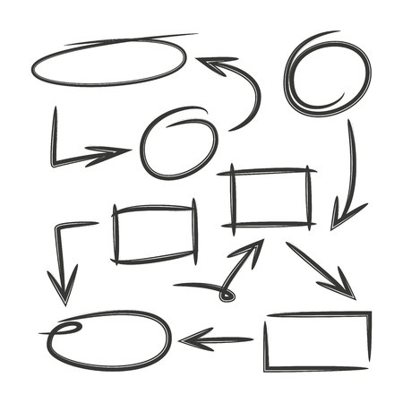 diagrama dibujado a mano, gráfico dibujado a mano Ilustración de vector