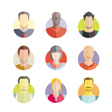 people icons set Illustration