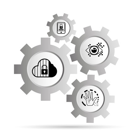 cloud security concept Illustration
