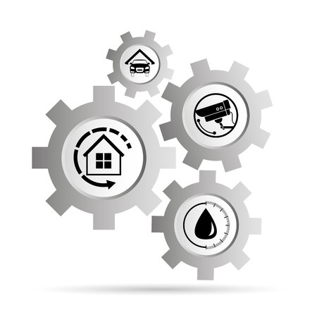 smart home system, internet of things concept