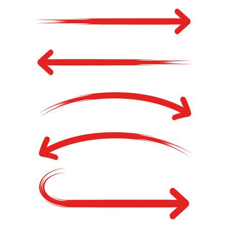 Rode pijlen sjabloon vectorillustratie