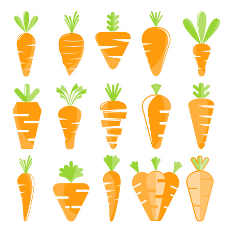 carrot icons set