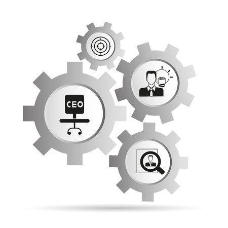 organization management, business management concept