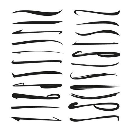 下線, 蛍光ペン マーカー ストローク  イラスト・ベクター素材