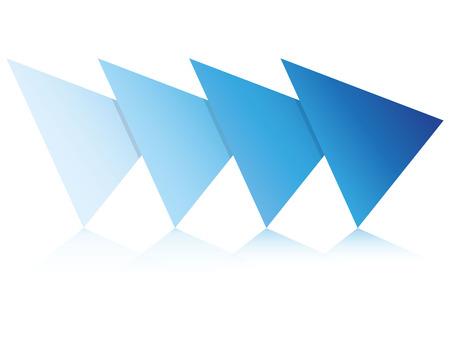 blue blank diagram template
