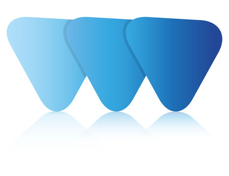 blue blank triangle diagram template