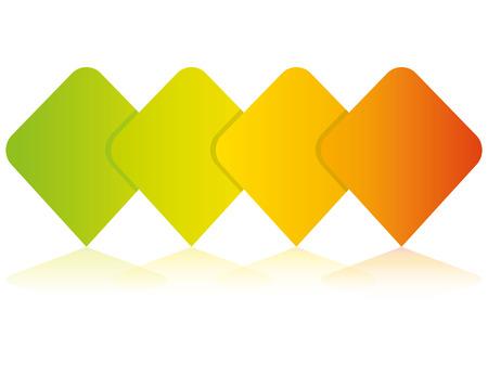 colorful blank square diagram template Illusztráció