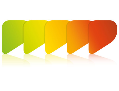 colorful blank process diagram template