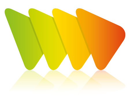 Colorful triangle process diagram template