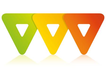 Colorful blank triangle process diagram template Illusztráció