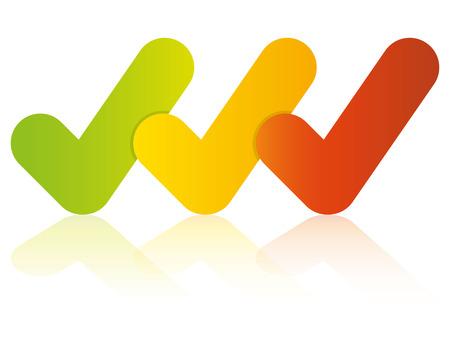 plantilla de diagrama de marcas de verificación de colores