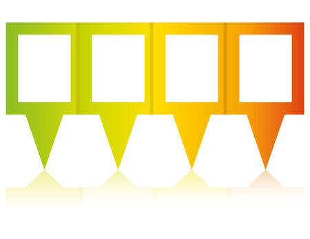 Colorful blank pins diagram template