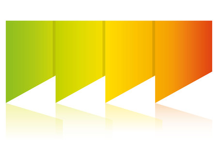 Colorful blank diagram template
