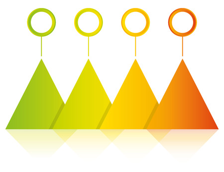 Colorful blank triangle diagram template Illusztráció