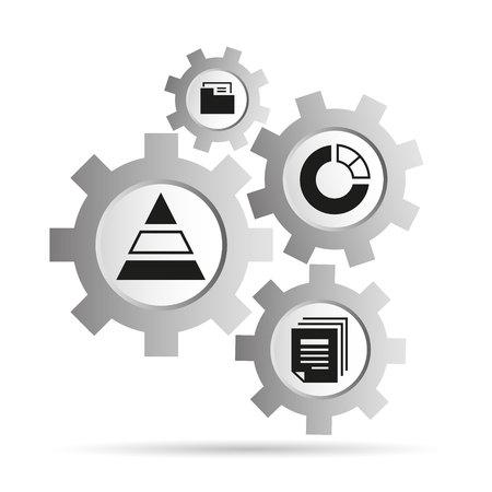 data analytics concept in gears diagram