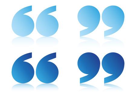blue quote symbols