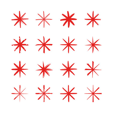 red asterisk symbols